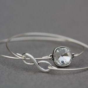 SALE TODAY Infinity Silver Bangle B..