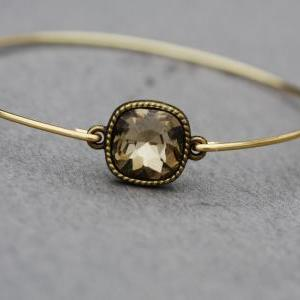 Smoky Topaz- French Mousse Bangle B..
