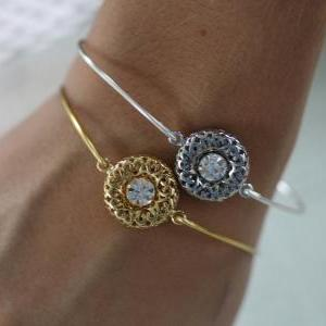 Glowing Sunset- Gold Plated-Bangle ..