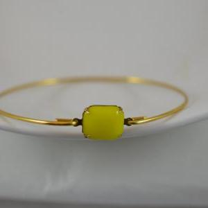 Bright Yellow Opaque Vintage Glass ..