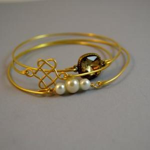 Blissful Bangle Bracelet Set- Elega..