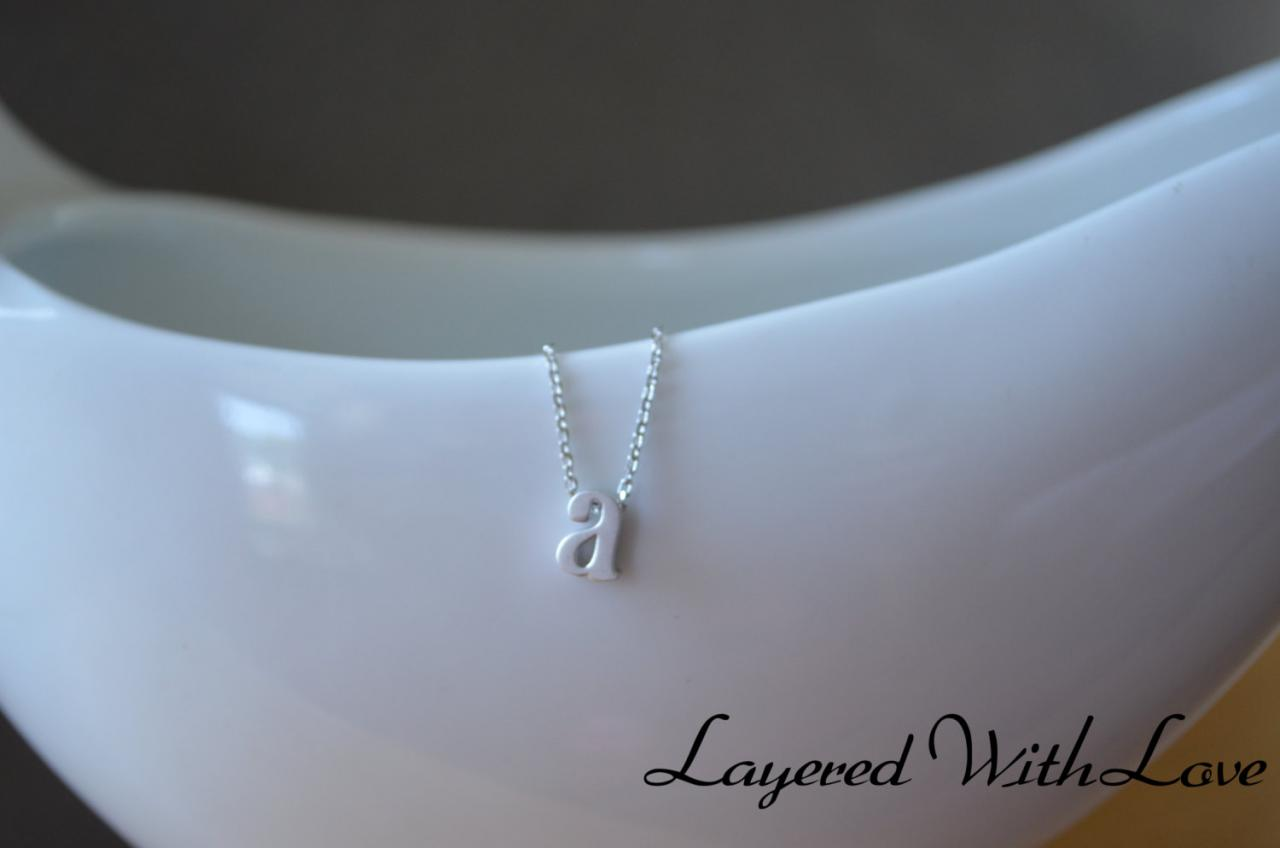 Personalized Letter Necklace- Sterling Silver Necklace- Initial Necklace-Monogram Necklace- Custom Name Necklace- Bridesmaids Gifts