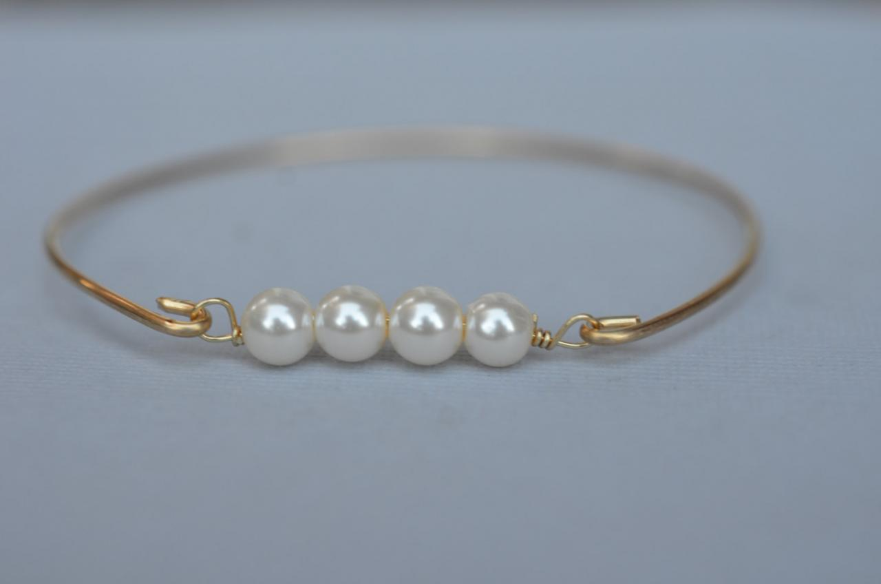 il bangles bangle bracelet white au simple listing pearl gold