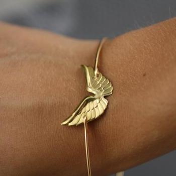 Simply Gold Wing Bangle Bracelet